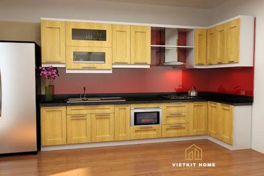 Tủ bếp gỗ tự nhiên tại Vietkit Home