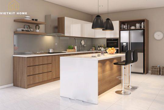 Tủ bếp có Quầy Bar Đẹp 2021- Vietkit Home