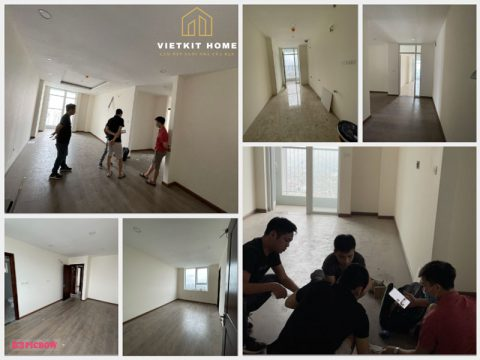 Vietkit Home thiết kế và thi công Nội Thất Căn Hộ 102m2 3 Phòng ngủ cho A.Trọng tại Nam Trung Yên.